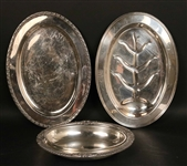 Oval Silver Plated Well and Tree Platter