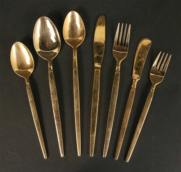 Stanley Roberts 24 K Electro Gold Plated Flatware