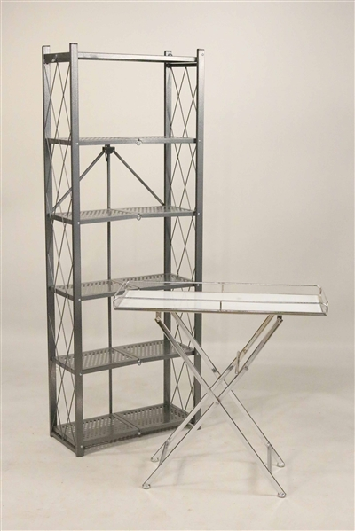 Two Contemporary Folding Shelves