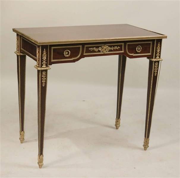 Louis XVI Style Ormolu-Mounted Writing Table