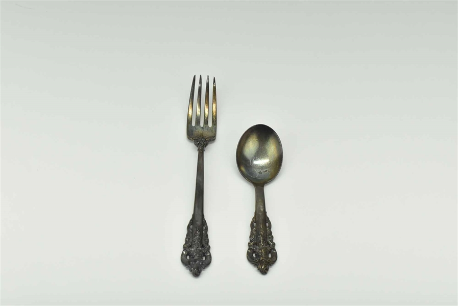 Wallace Sterling Grande Baroque Fork & Spoon