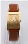 Vintage Bucheron 18K Gold Tank Mechanical Watch