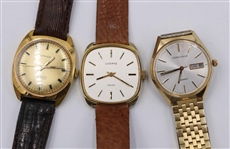 Three Assorted Mens Vintage Watches