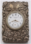 Ornate Sterling Desk Clock