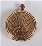 Vintage Adolphe Huguenin Gold Filled Pocket Watch