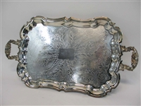 2 Silver Plated Serving Trays