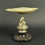 Chinese Export Silver and Mother-of-Pearl Tazza