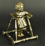 Asian Export Parcel Gilt Silver of Child