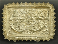 Asian Export Silver Small Tray