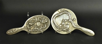Chinese & Japanese Export Silver Hand Mirrors