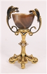 Continental Gilt Bronze Mounted Agate Chalice