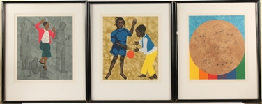 Three Elizabeth Catlett Signed Lithographs