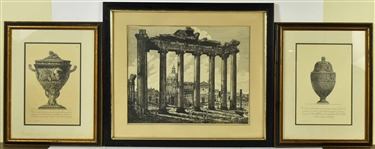 Three Lithographs, Giovanni Piranesi