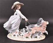 "Lladro ""Puppy Parade"" Porcelain Figure"