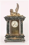 Empire Marble and Bronze Mantle Clock