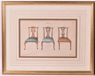Chippendale Furniture Color Print
