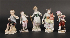 Three Meissen Porcelain Figures