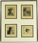 Four Etchings Framed Together, Joseph Stella