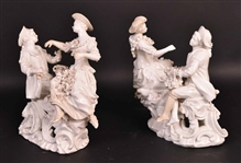 Pair of Blanc de Chinese Porcelain Figures