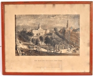 Print, The Park and City Hall, New York