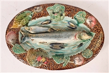 Choisy le Roi Majolica Fish Wall Plaque