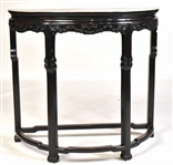 Chinese Black-Lacquered Hardwood Console Table