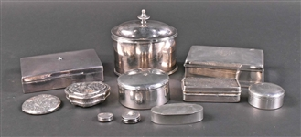 Gorham Sterling Silver Hinged Wood Lined Box