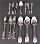 Six Wallace Sterling Silver Butter Spreaders