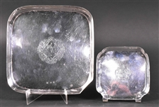 Two English George I Silver Waiter