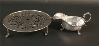 English Silver on Copper Sauceboat