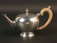 George II Silver Apple Form Teapot