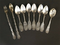 Set of Six American Coin Silver Teaspoons