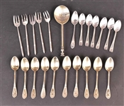 Continental Silver Gilt Seal Top Spoon