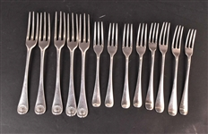 English Georgian Silver Three Tined Forks