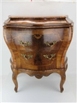 Inlaid Bombe Two Drawer Chest Commode