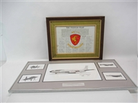 Group of Framed Joe Milich Aviation Prints