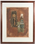 Johnny Friedlaender Abstract Color Lithograph