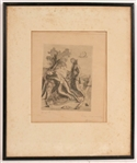 Ferdinand Springer, Etching, Two Figures