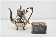Silverplate Footed Teapot