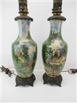 Pair of Antique Art Pottery Vases
