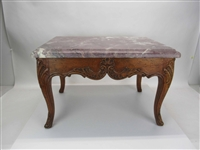 Louis XV Style Marble-Top Low Table
