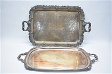 William Adams English Silver Plate Handled Tray