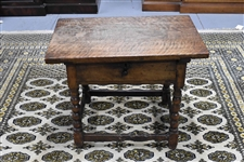 Antique Hardwood Tavern Low Table