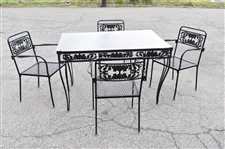 Iron Outdoor Patio Table and Chairs Set