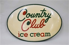 Vintage Country Club Ice Cream Advertising Sign