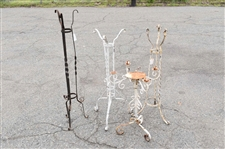 4 Vintage Wrought Iron Plant Stands