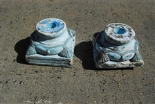 Pair of Decorative Cement Column Stands